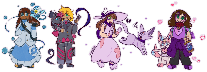 Pokemon OCs redraw