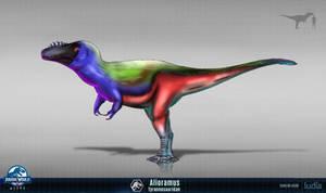 Alioramus fan concept art for jurassic world alive