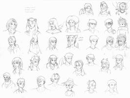 wwp student sketches redo by WhiteTigaw