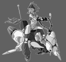 Biker Chick by CaptainLuckypants