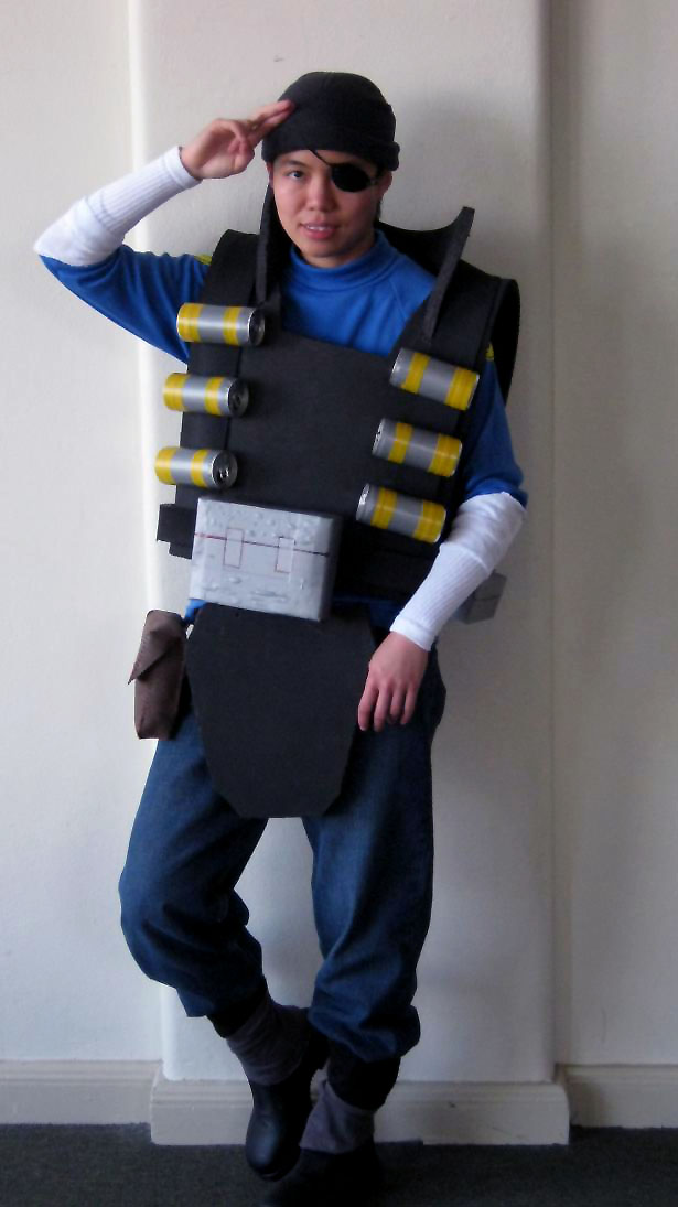 TF2 BLU Demo cosplay 1 by greenzaku