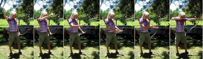 Longbow archery reference 1 by greenzaku