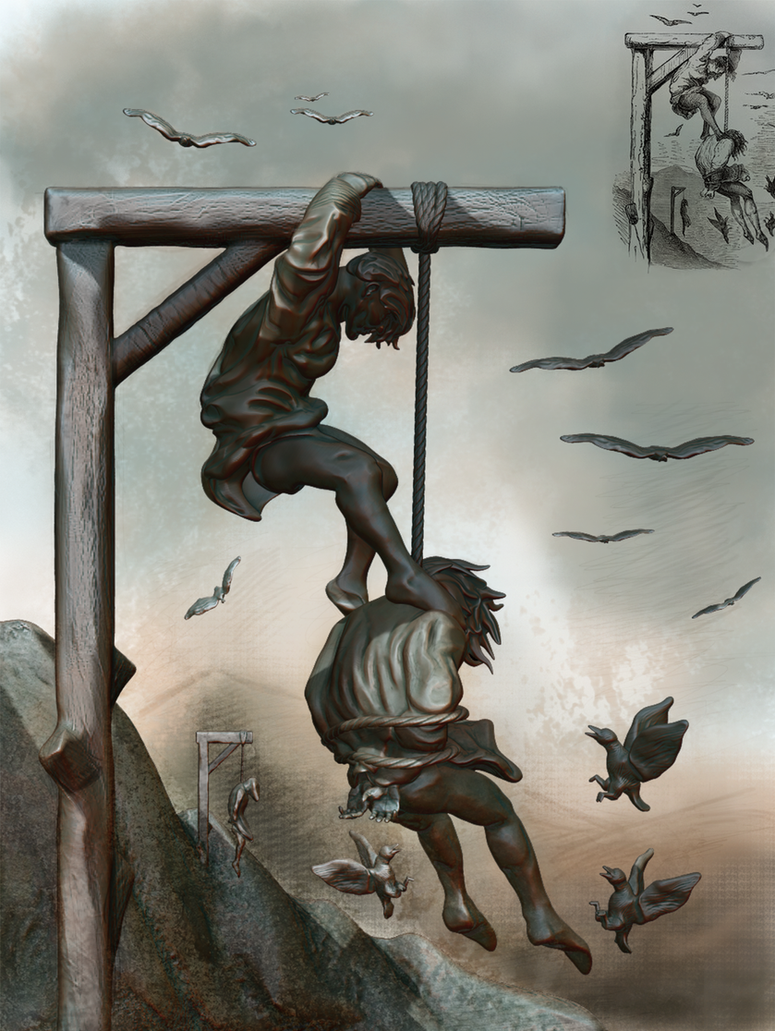 Helping The Hanging Man To Die By Cukta On DeviantArt