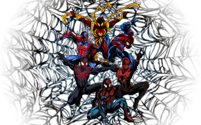 6 Spider-Man Versions by jbyrd117