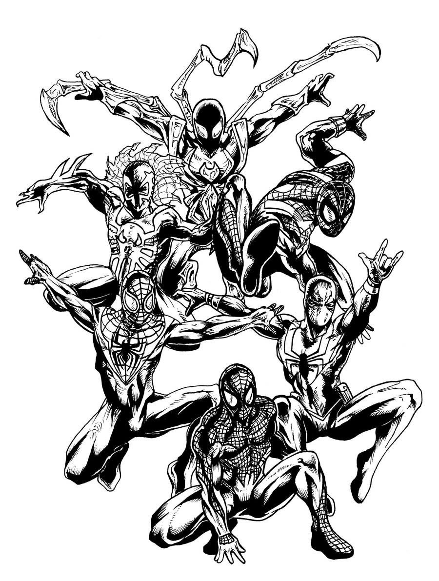 Spidrman 2099 - Free Coloring Pages