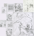 Thumbnails and Pencil Sketch of Birds