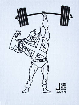 Strong Guy Inktober 2014 Drawing