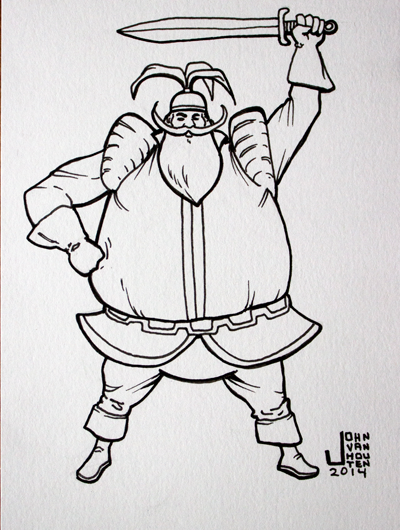 Volstagg Inktober 2014 Drawing by jbyrd117
