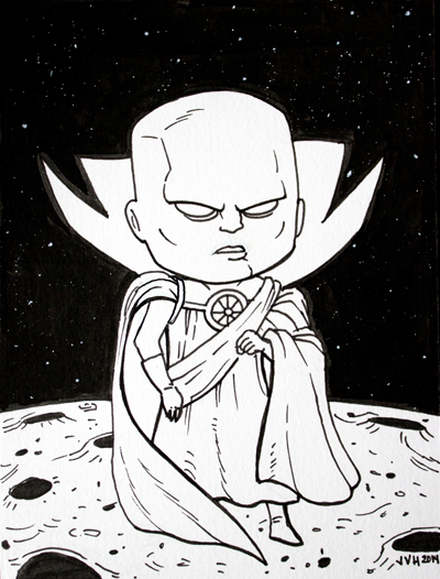 The Watcher Inktober 2014 Drawing by jbyrd117