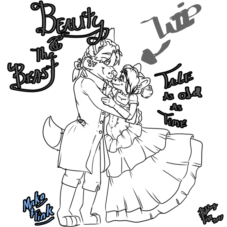 A love as old as time WIP by PamperedKitFox