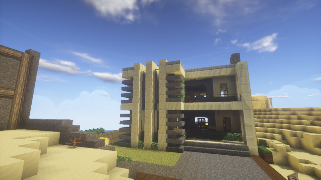 minecraft_modern_house_front_by_lowder2-
