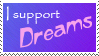 I Support Dreams Stamp by TheGhostHybrid