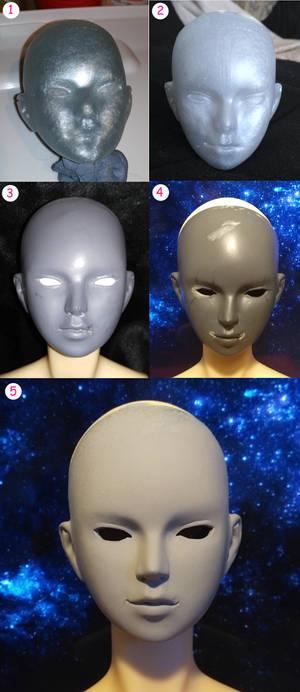 My summer progress on BJD head