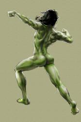 Anatomical Study - She-Hulk by Fieryermine