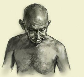 Mohandas K. Ghandi by Fieryermine