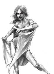 Emma Frost by Fieryermine