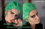 Roronoa ZORO makeup video tutorial by MischAxel
