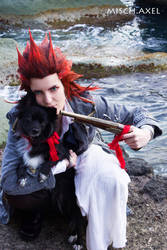 Stop! or I'll shoot - Axel Kingdom Hearts cosplay by MischAxel
