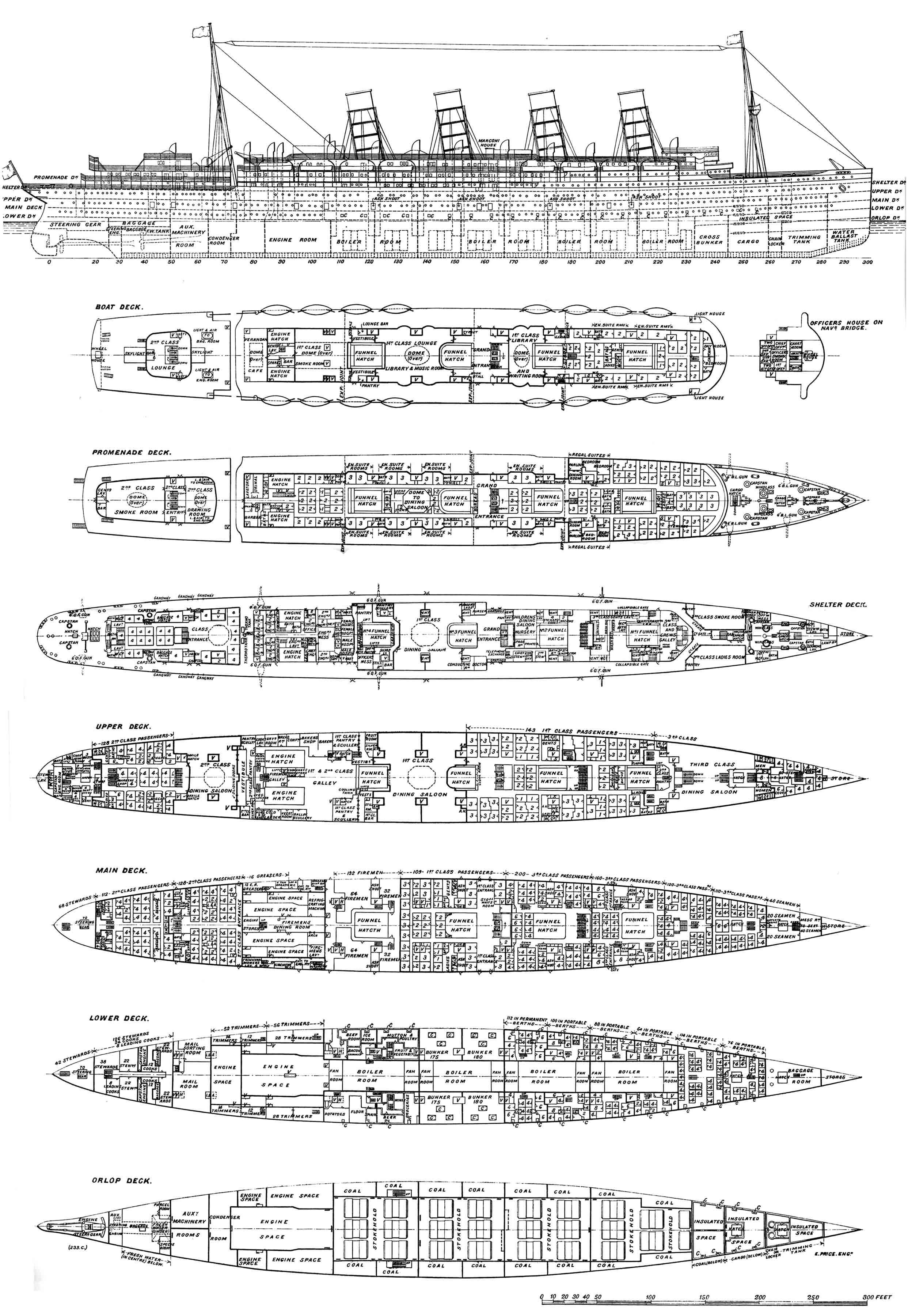Deck Plan of Mauretania 1906 by Scottvisnjic on DeviantArt