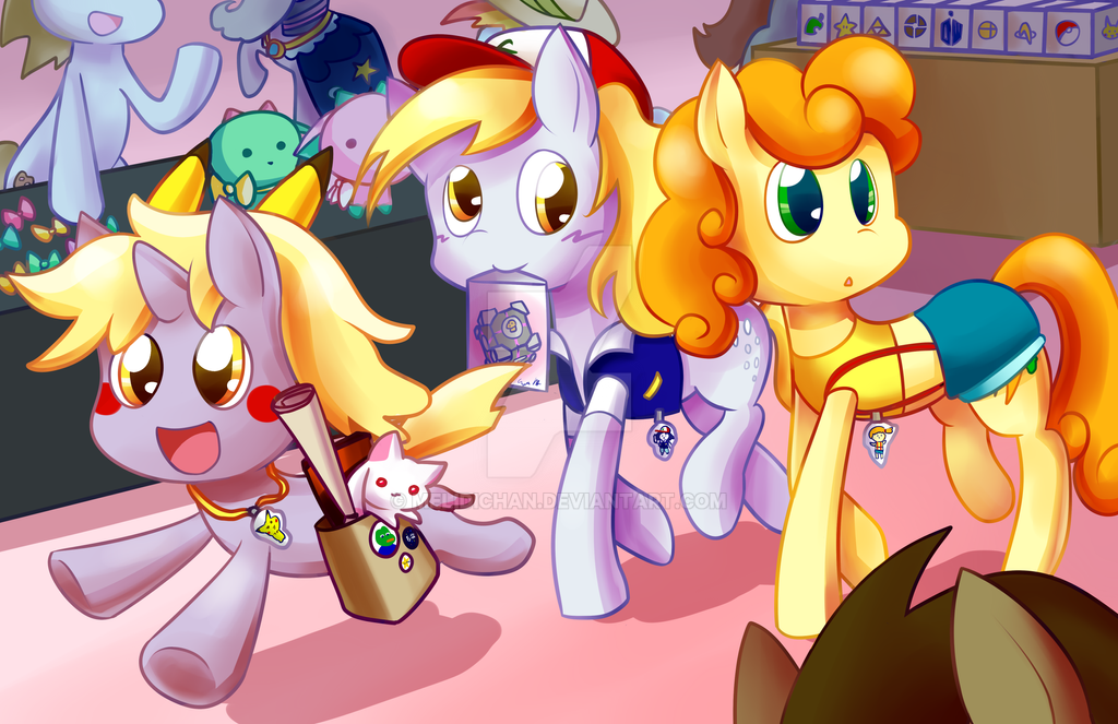 Convention Ponies by melidichan