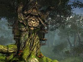 Fantasy forest background 1