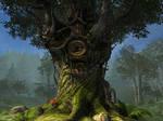 Fantasy forest background 3