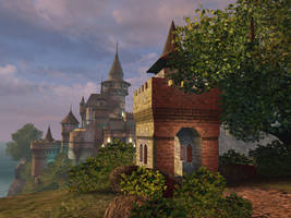 Fantasy castle background 5 by indigodeep