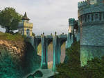 Fantasy castle background 7