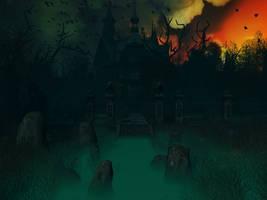 Haunted house background 3 by indigodeep