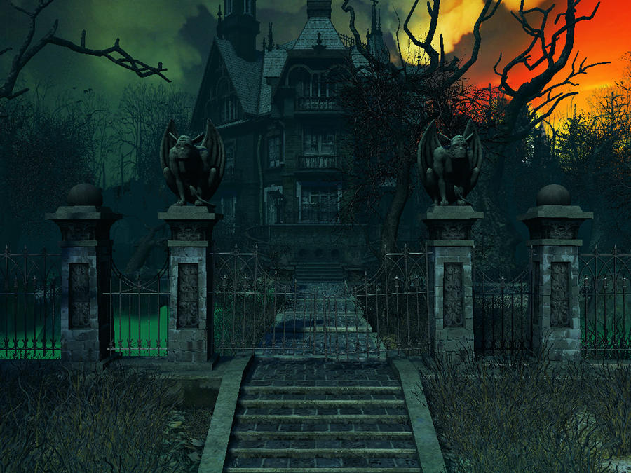 Haunted house background 4 by indigodeep