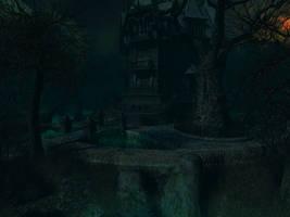 Haunted house background 5 by indigodeep