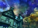 Haunted house background 8