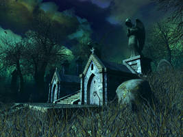 Haunted house background 10 by indigodeep
