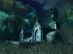Haunted house background 10