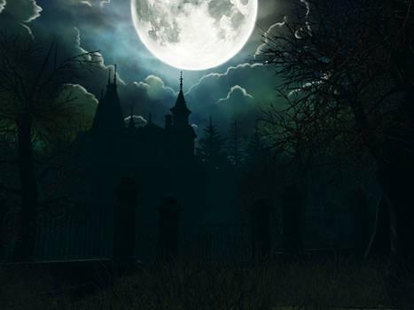 Haunted house background 13