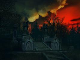 Haunted house background 15 by indigodeep
