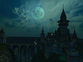 Fantasy castle background 12 by indigodeep