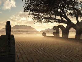 Misty background by indigodeep