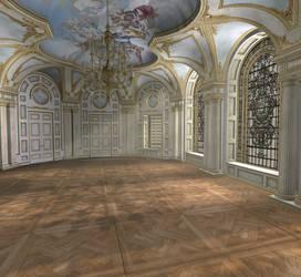 Baroque ballroom daytime by indigodeep