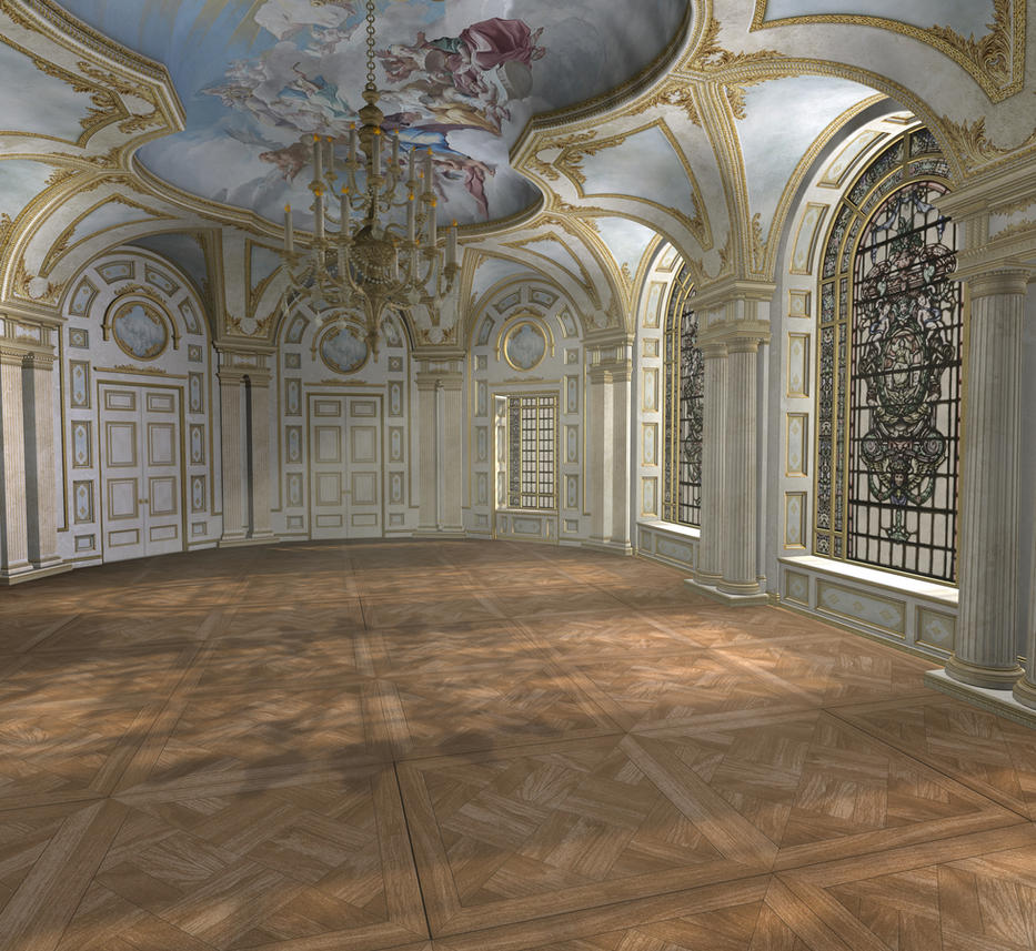 Baroque ballroom daytime by indigodeep on deviantart for Where can i get wallpaper for my room