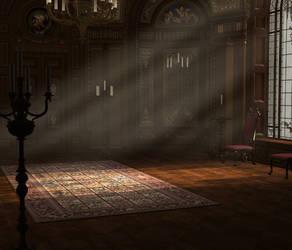 Baroque ballroom dark wood