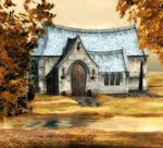 autumn chapel background