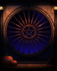 halloween background by indigodeep