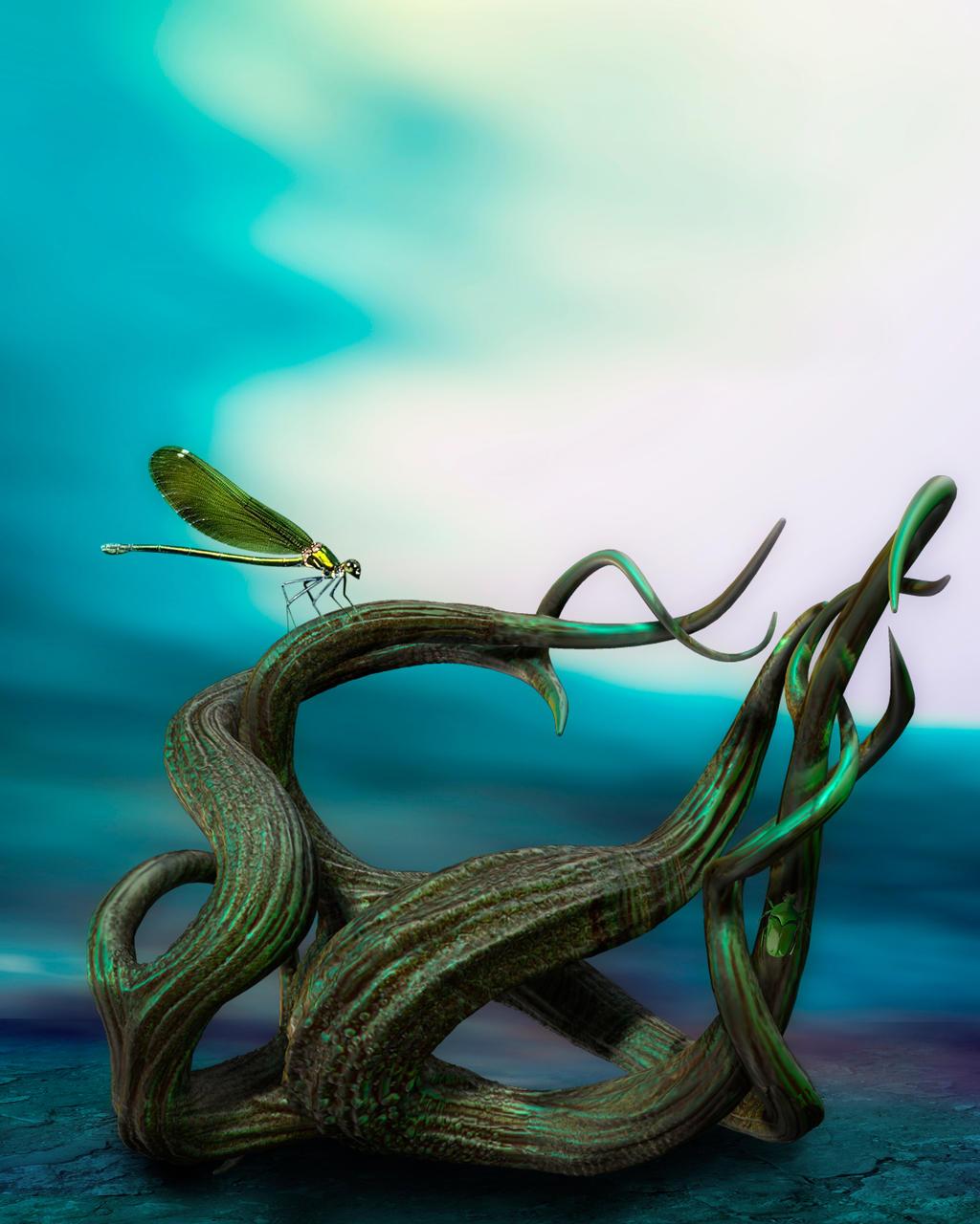 Odd nature background by indigodeep