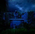 Night graveyard