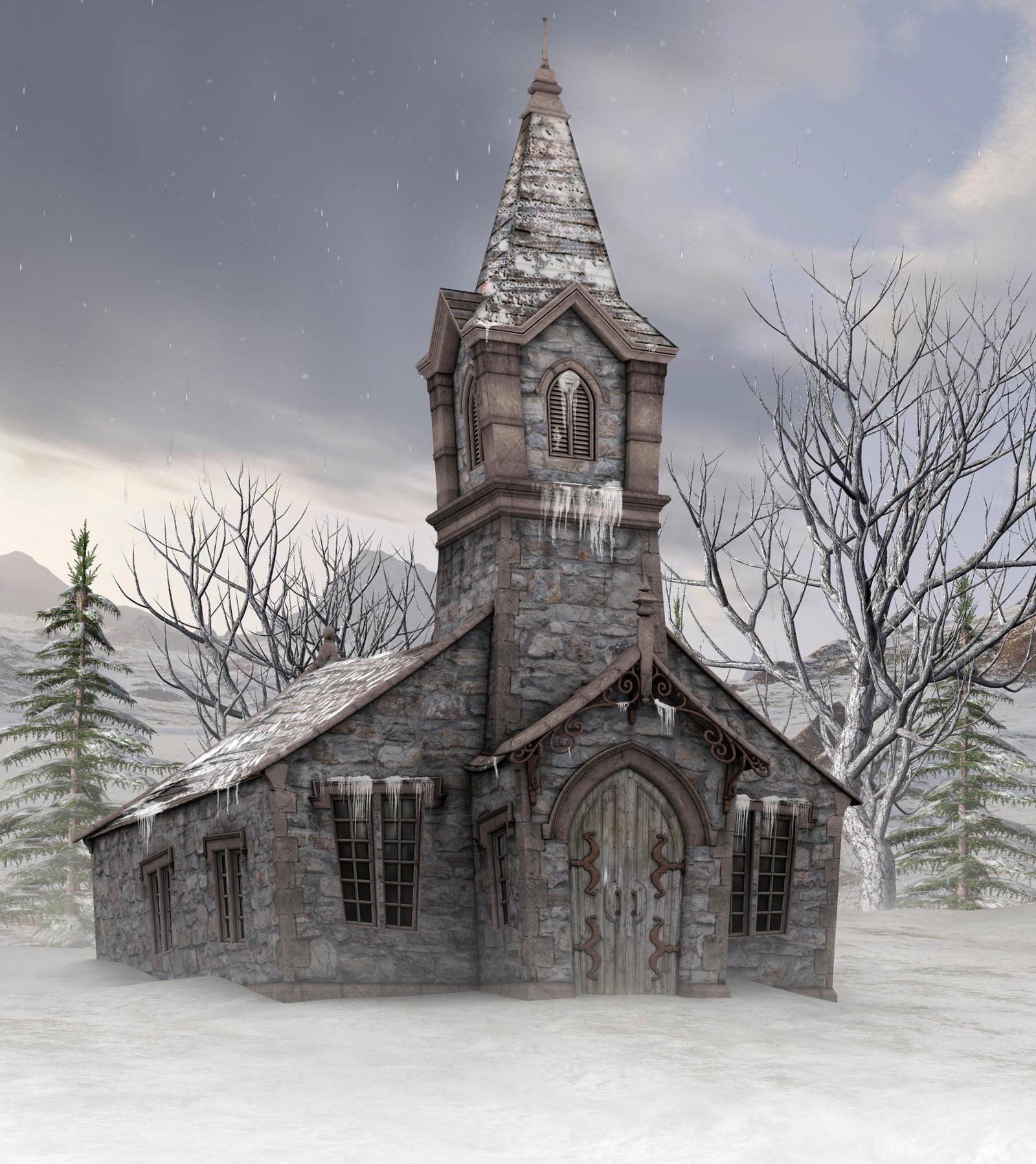 Winter school background by indigodeep