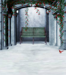 Winter alcove background