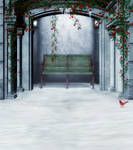 Winter alcove background