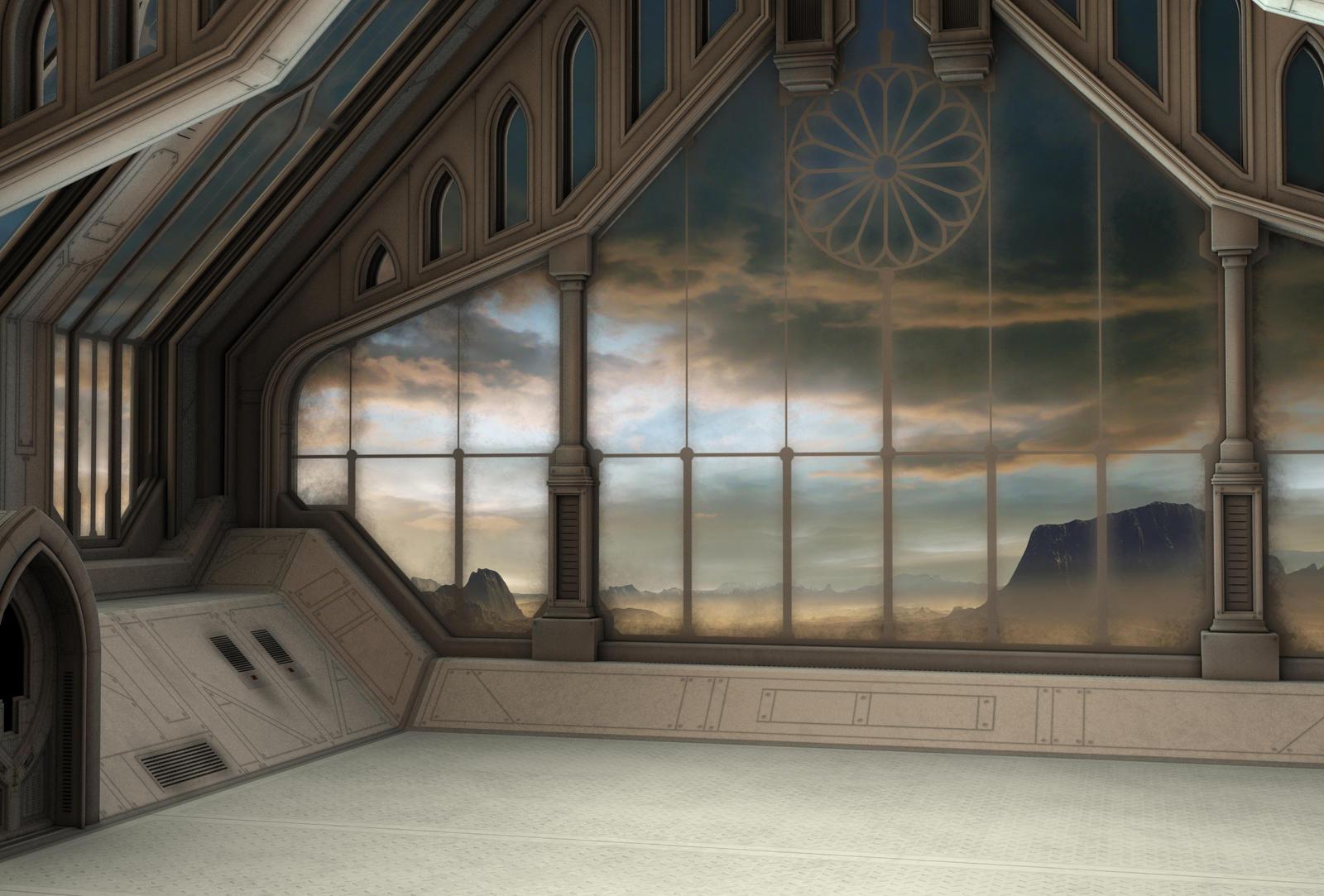 Spaceship background