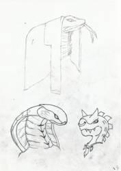 Practice Art: Some Random Reptile heads